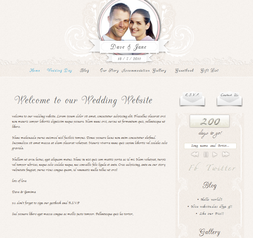 personal wedding website screenshot 17