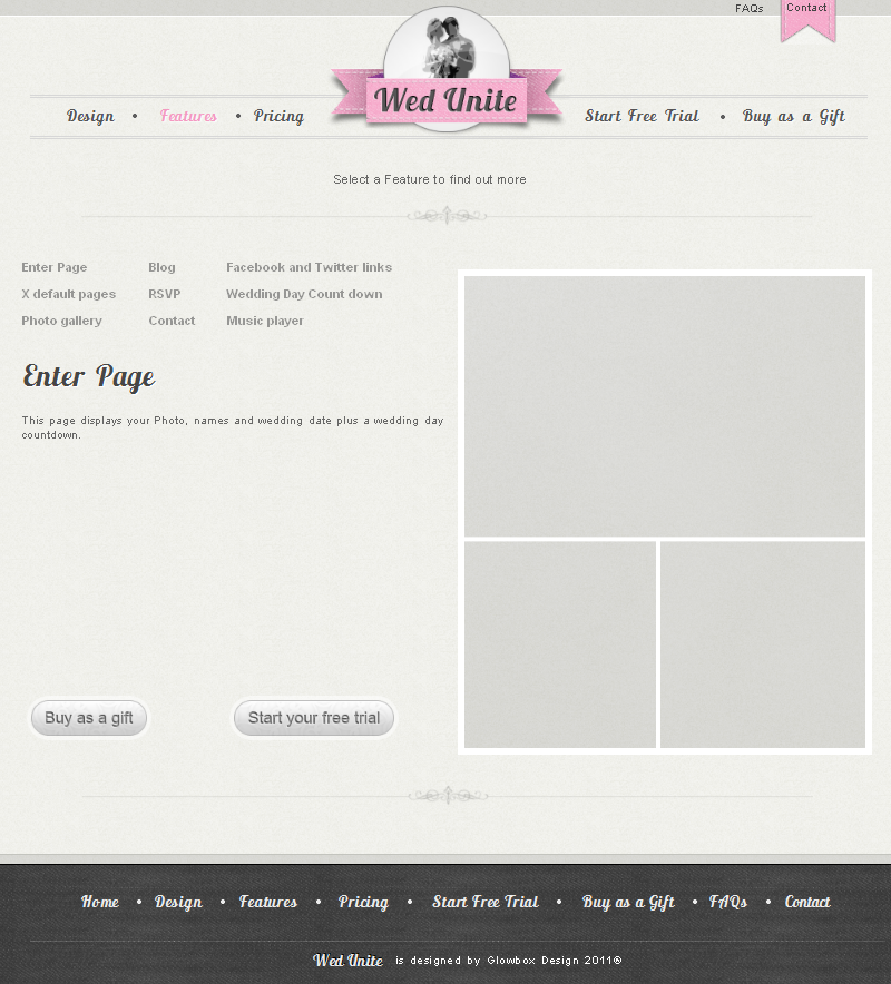 personal wedding website screenshot 15