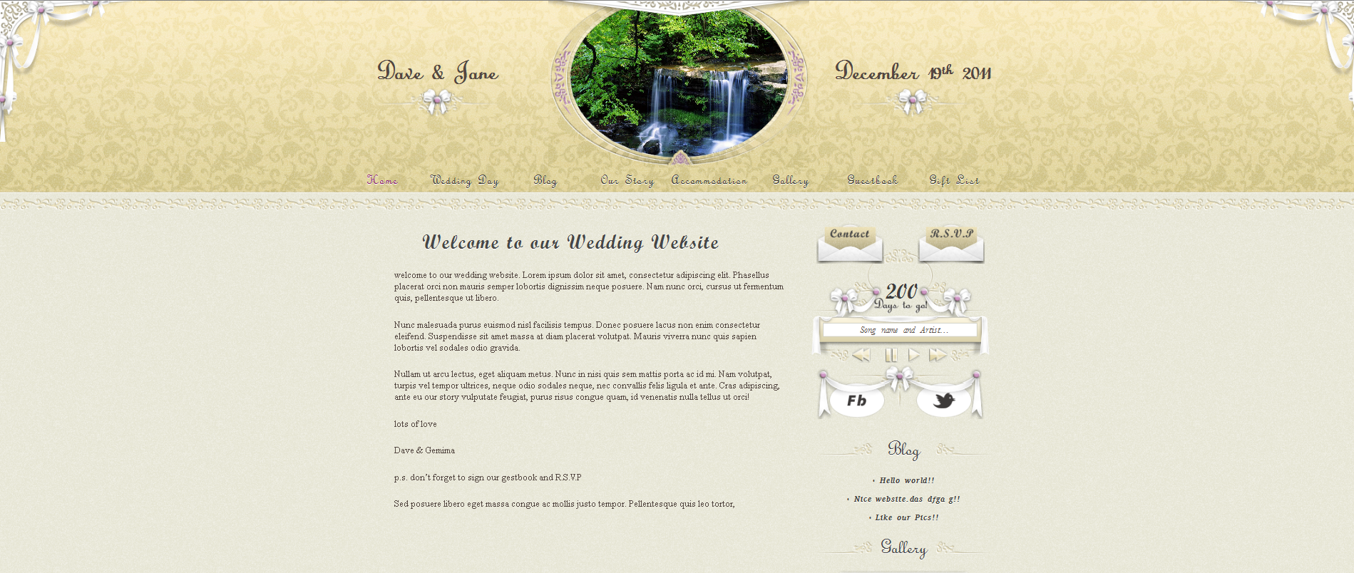 personal wedding website screenshot 12