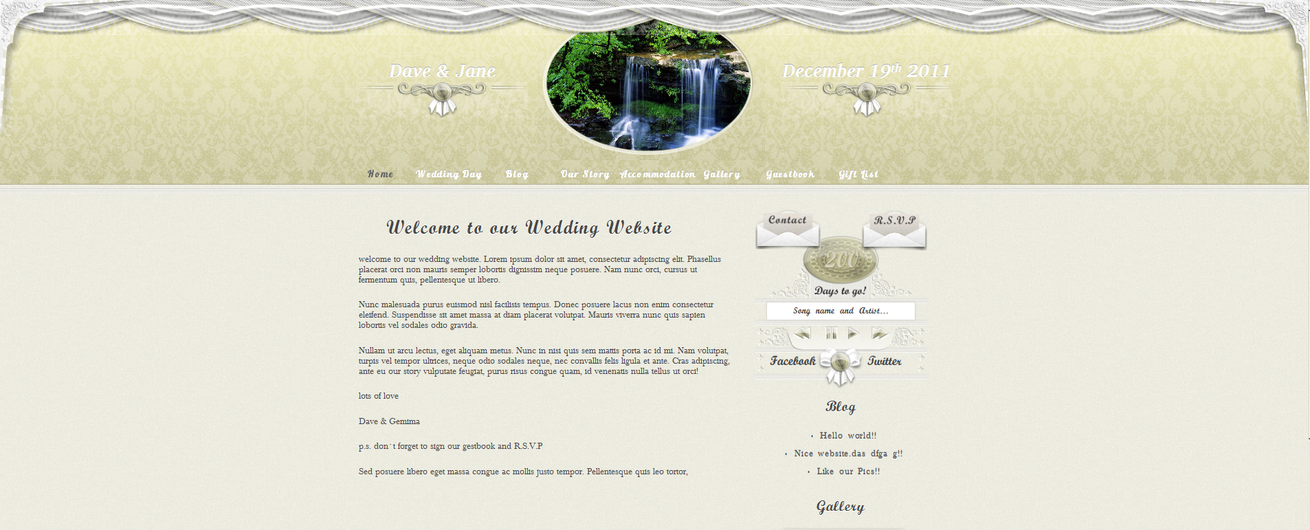personal wedding website screenshot 11