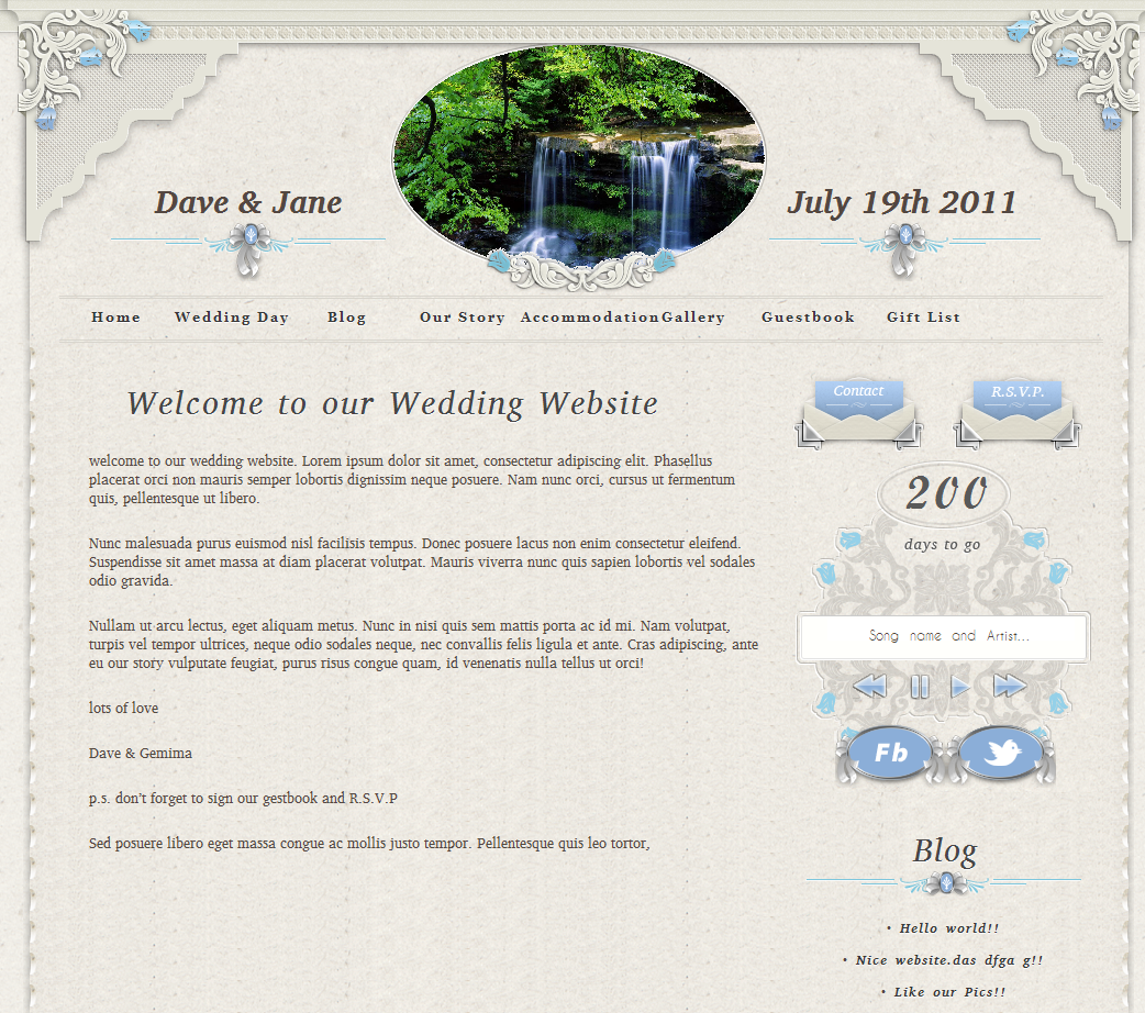 personal wedding website screenshot 10