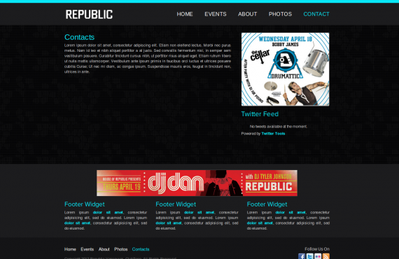 club builder. psd to wordpress screenshot 3