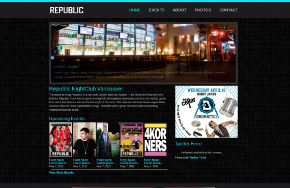 club builder. psd to wordpress screenshot 1
