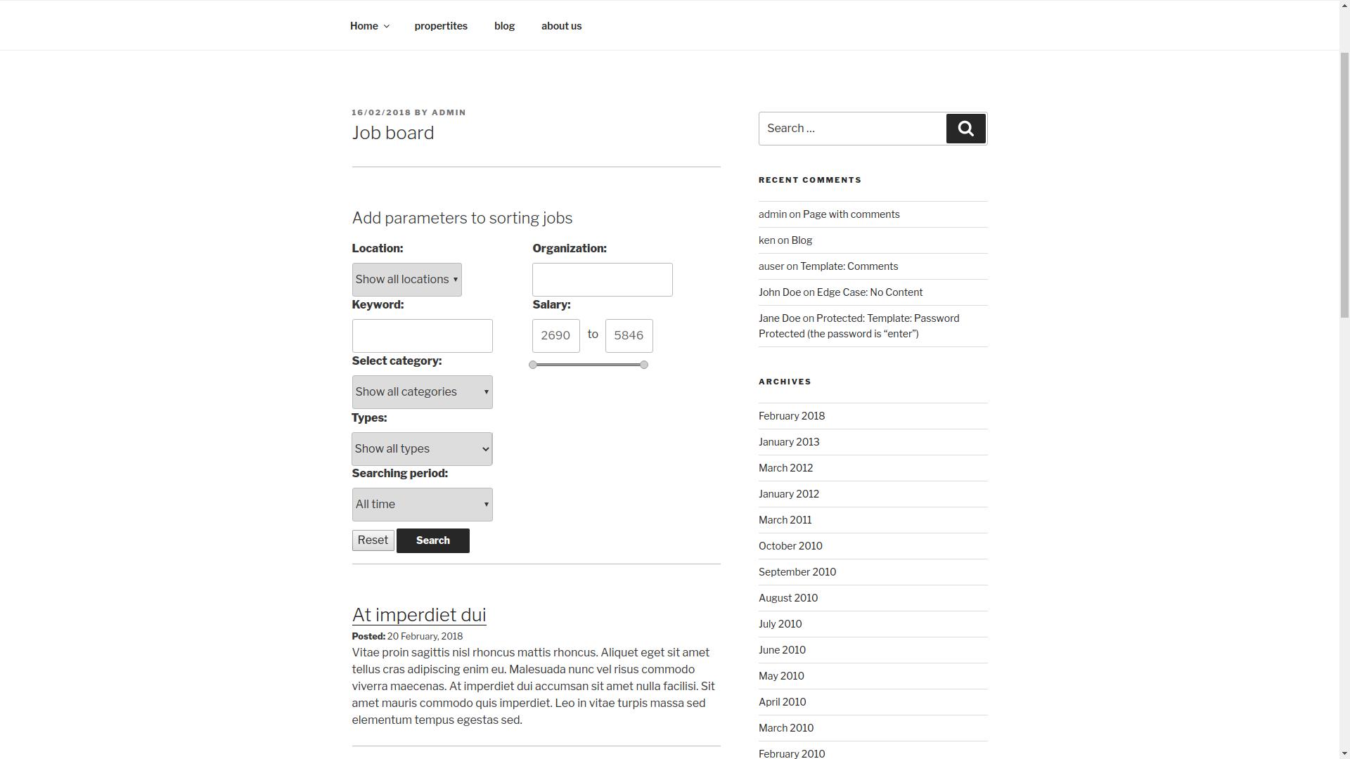 job board screenshot 1