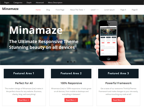 Minamaze theme display