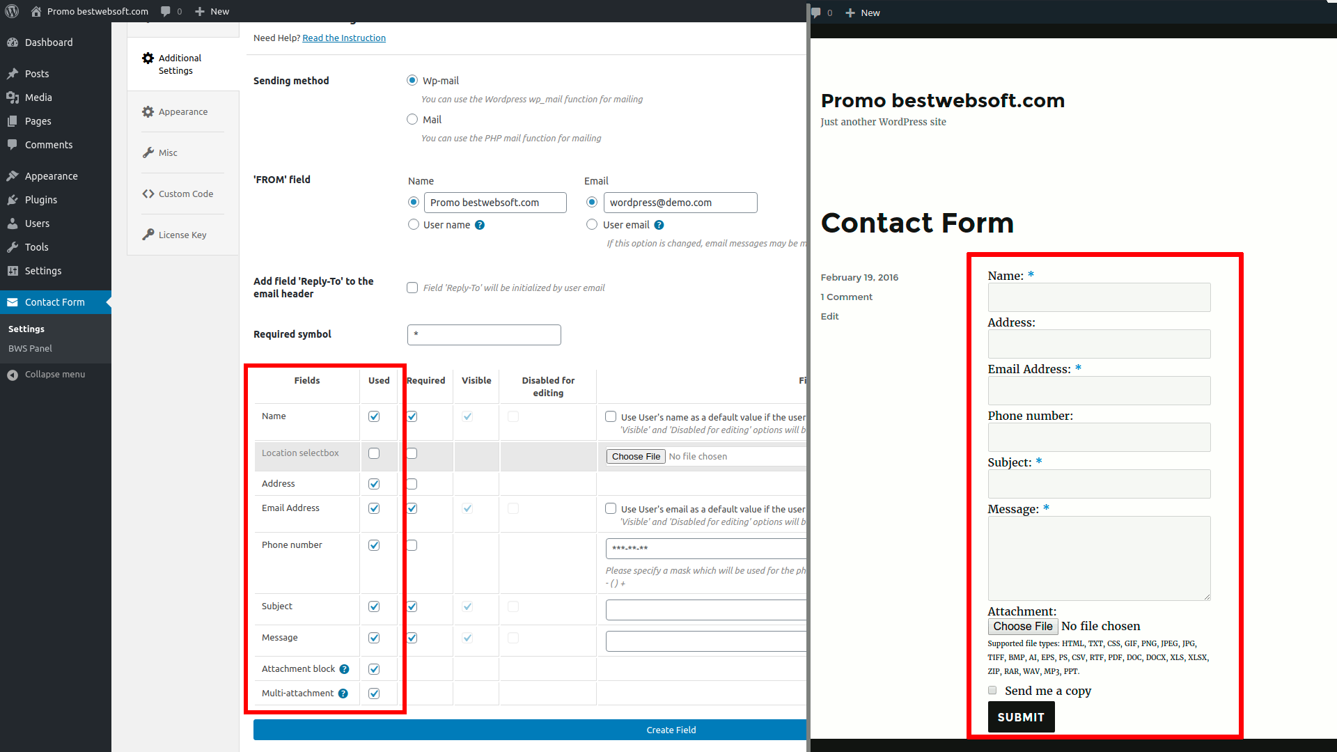 contact form screenshot 14