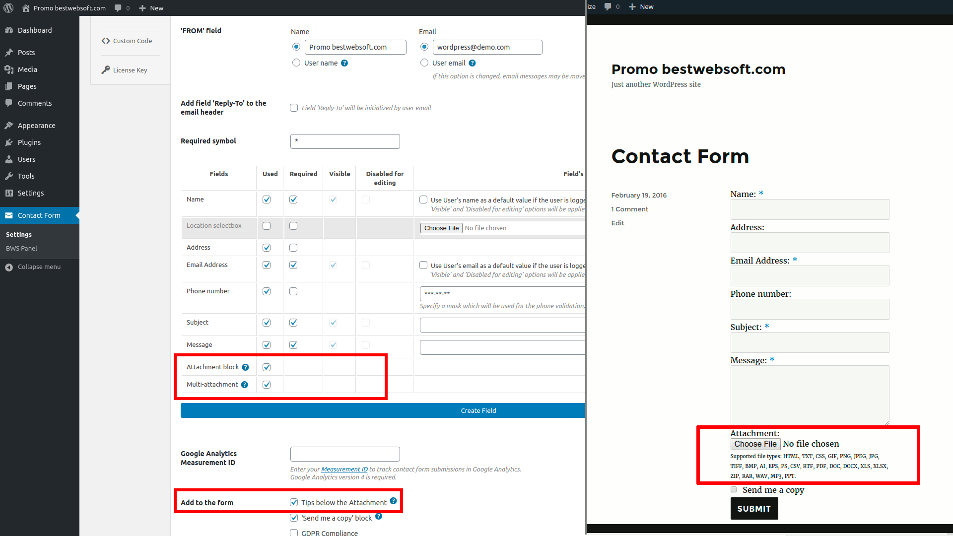 contact form screenshot 16