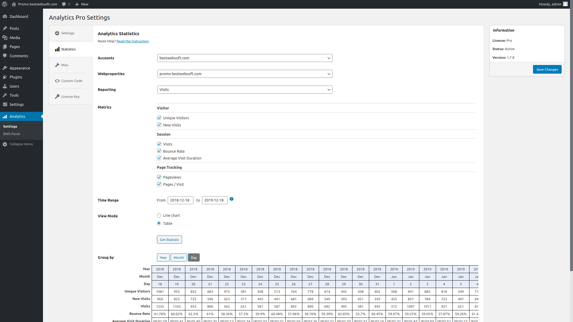 analytics screenshot 6