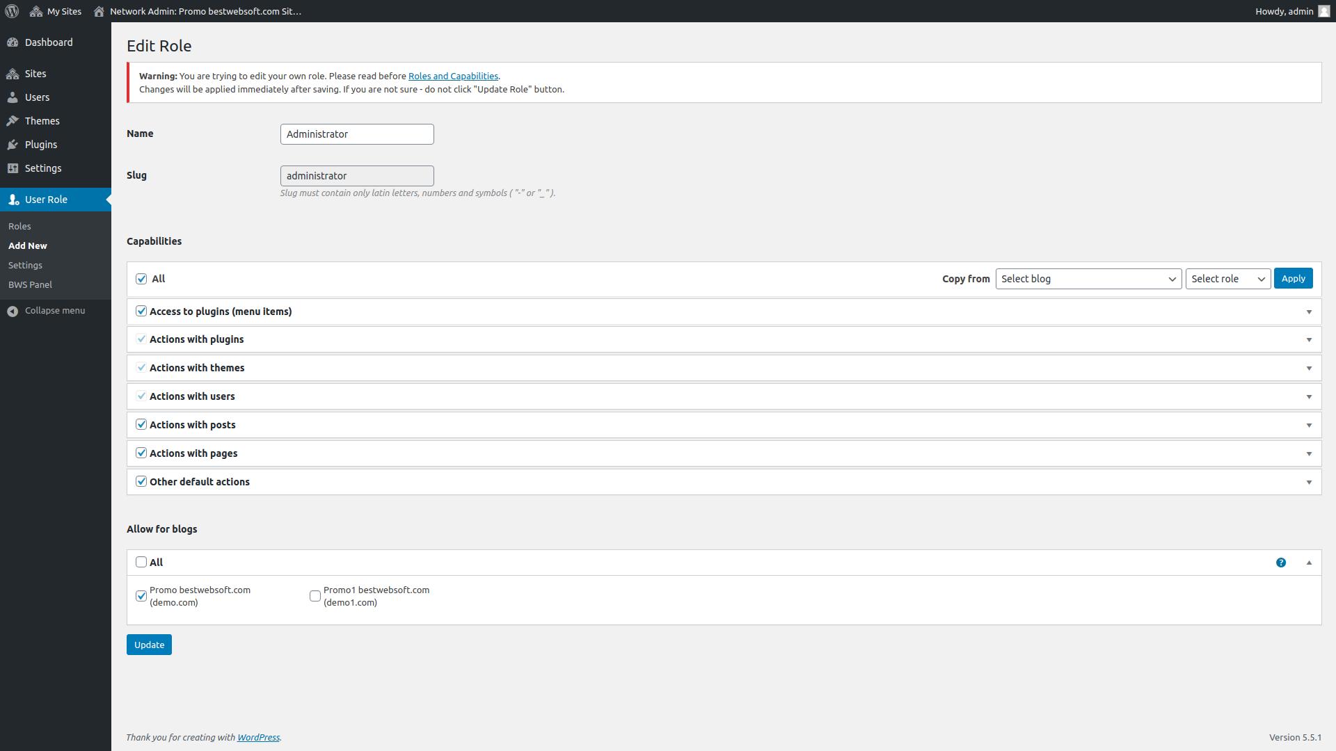 user role screenshot 3