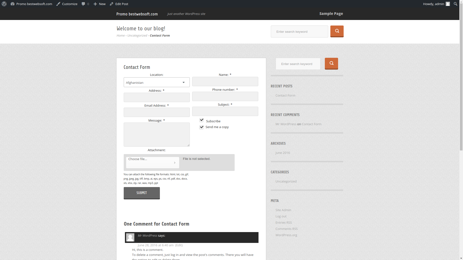 contact form screenshot 8