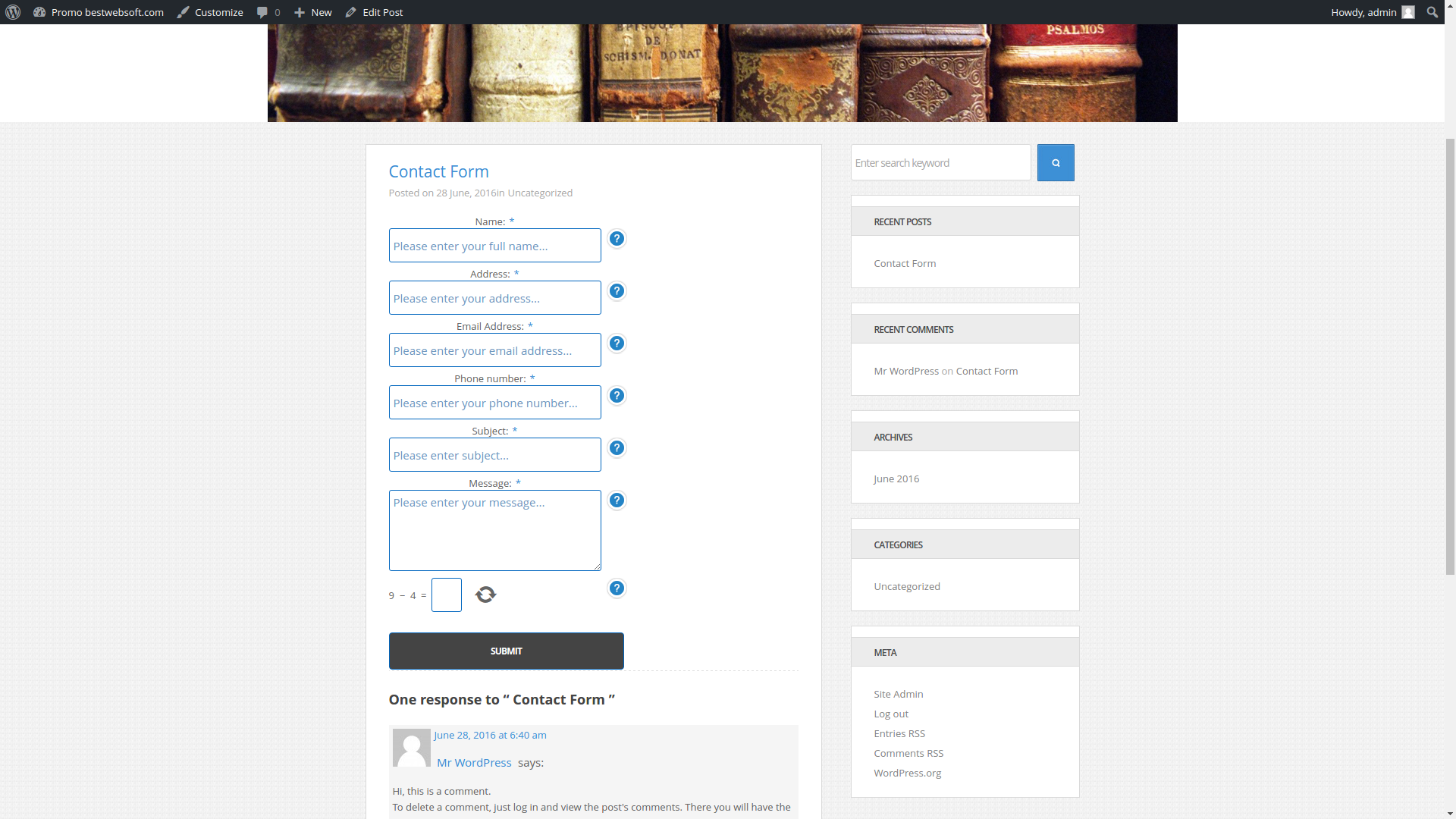 contact form screenshot 9