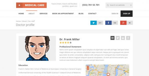medical care – medical psd template screenshot 15