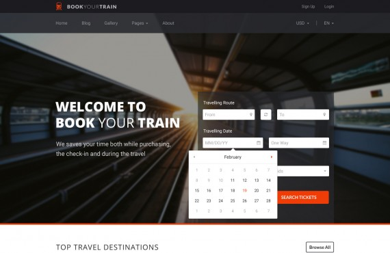 book your train – online booking psd template screenshot 13