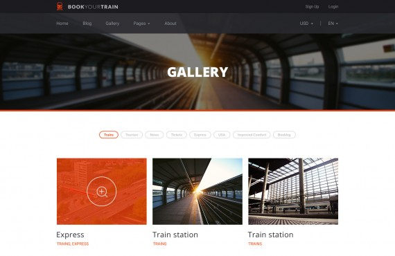 book your train – online booking psd template screenshot 3
