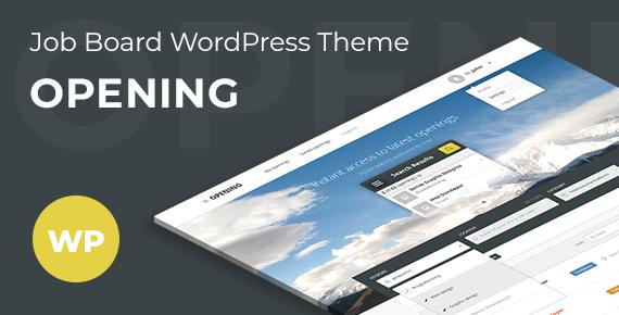 opening – job board wordpress theme screenshot 1