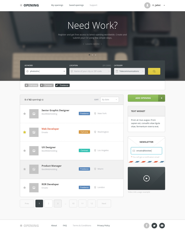 opening – job board wordpress theme screenshot 5