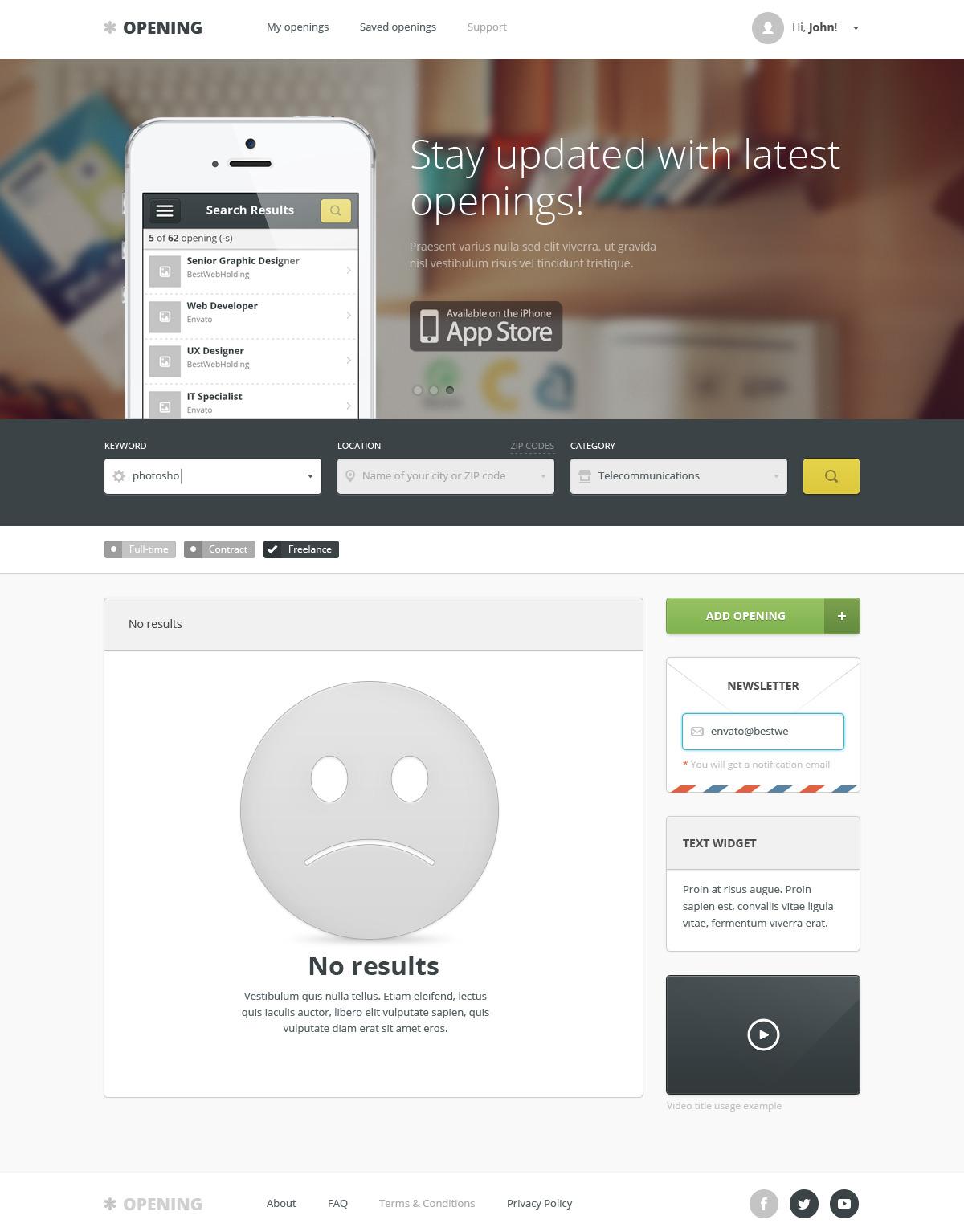 opening – job board wordpress theme screenshot 7