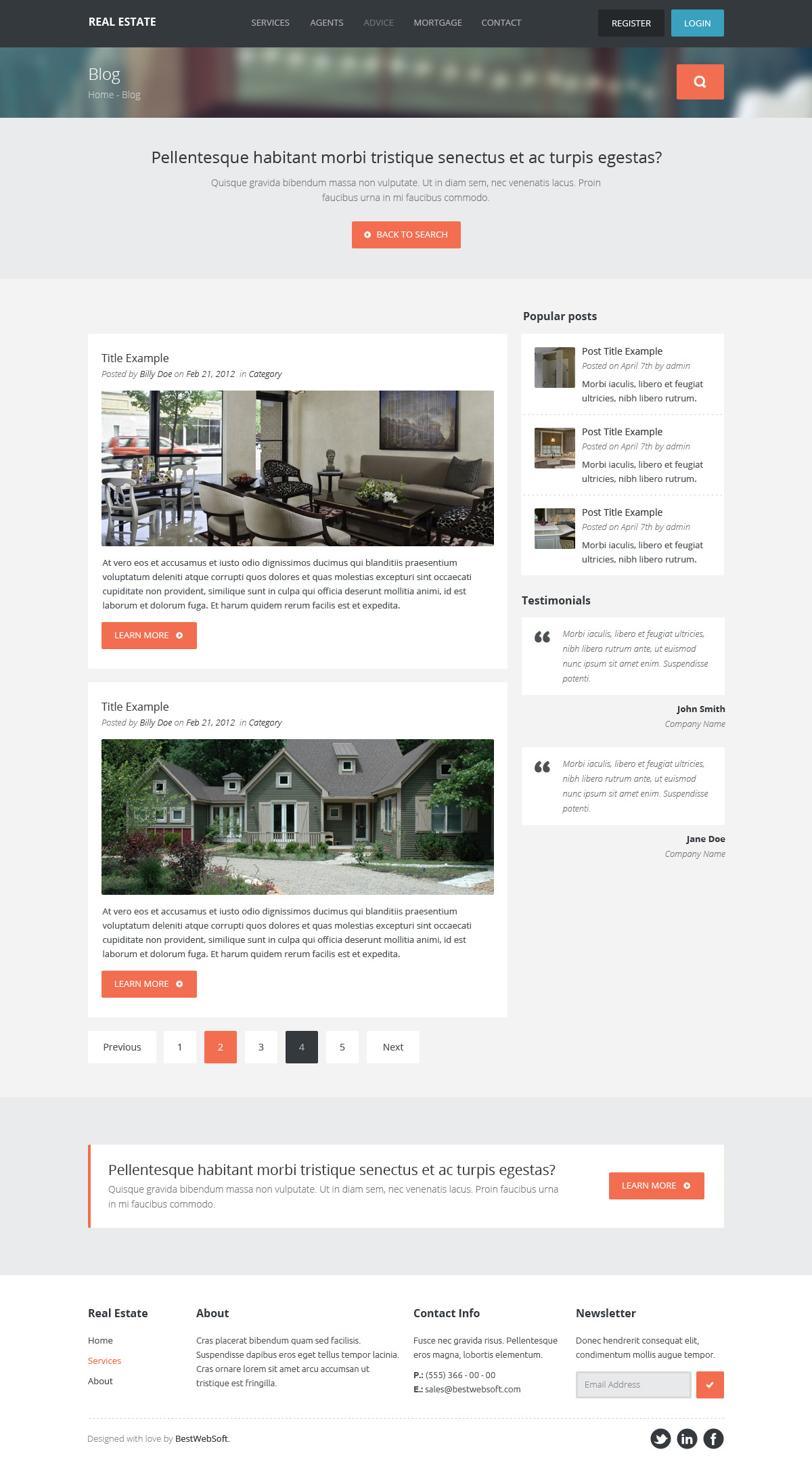 real estate – creative wordpress theme screenshot 3