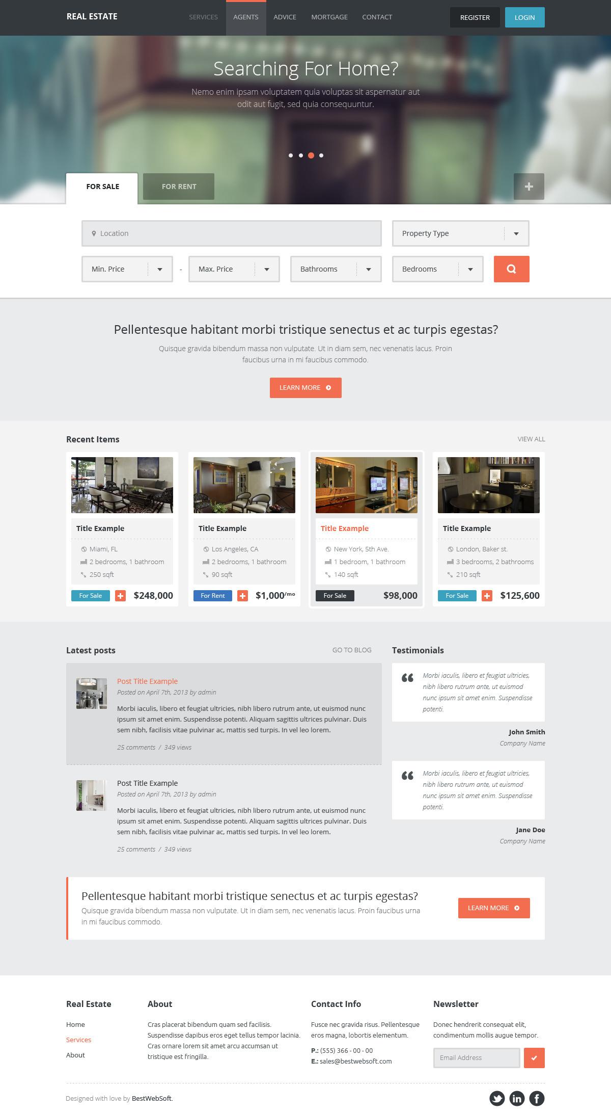 real estate – creative wordpress theme screenshot 5