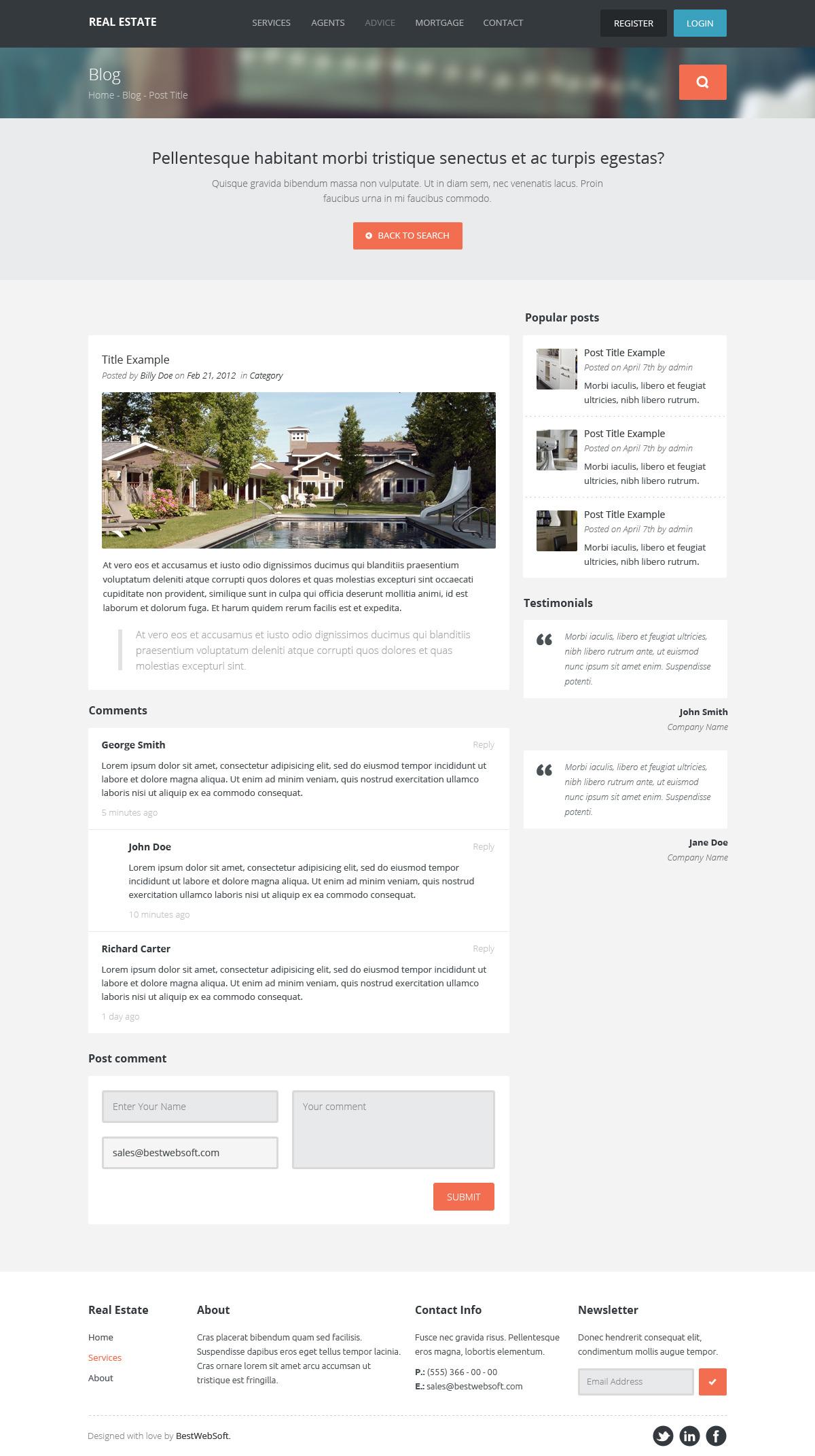 real estate – creative wordpress theme screenshot 8