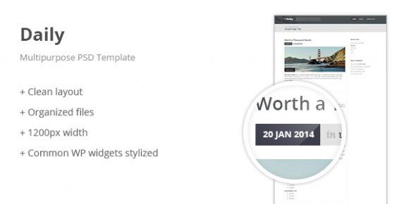 daily stories – multipurpose psd template screenshot 1
