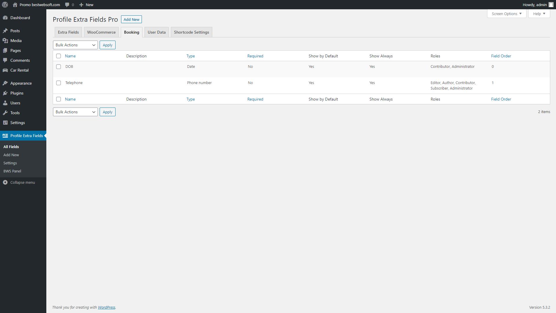 profile extra fields screenshot 18