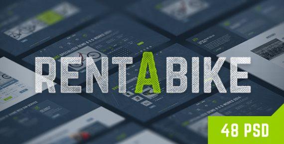 rent a bike wordpress template