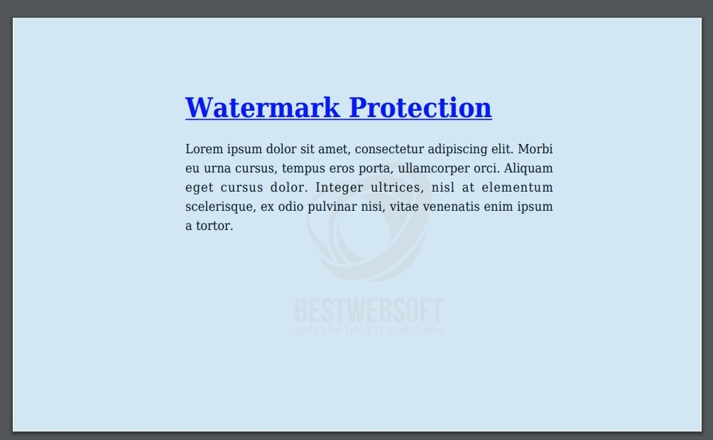 watermark protection