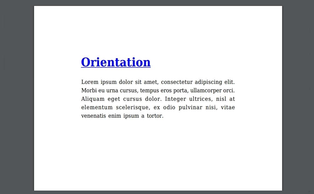 pdf orientation