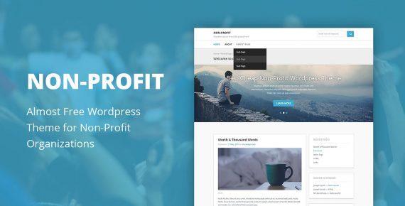 non-profit cheap wordpress theme