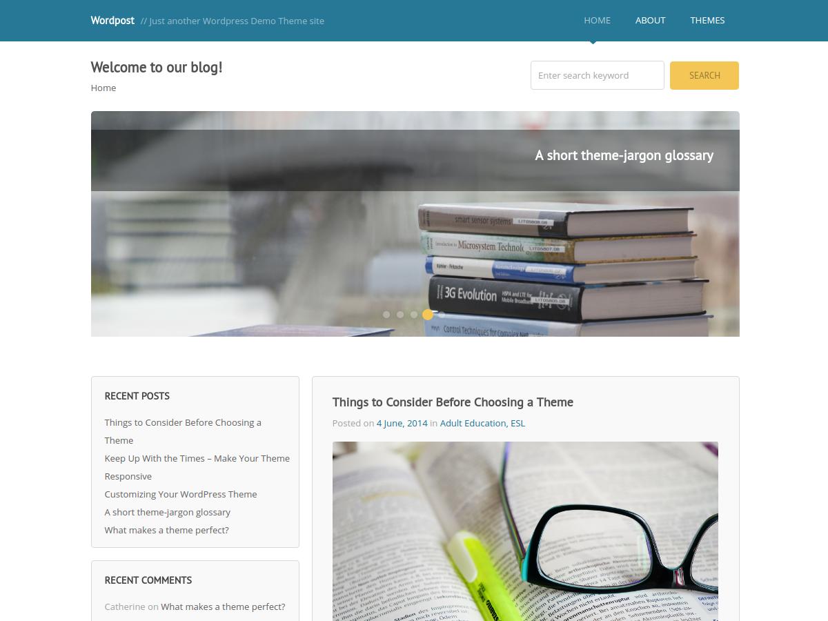 wordpost – cheap wordpress theme screenshot 1