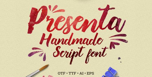 presenta – handmade script font screenshot 1