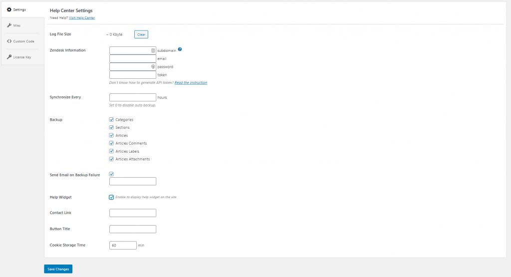 pinterest plugin settings